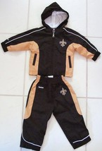 NFL TEAM APPAREL REEBOK KIDS JACKET SWEATSUIT BLACK GOLD ZIP HOODED 18 MTHS - €25,16 EUR
