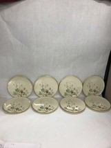 LENOX WESTWIND dinner plate 8 pieces gold trim 8 inch USA  Mid Century U... - $89.09