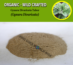 POWDER Gynura Divaricata Tuber Organic Wild Crafted Fresh Natural Herbs - $8.10+