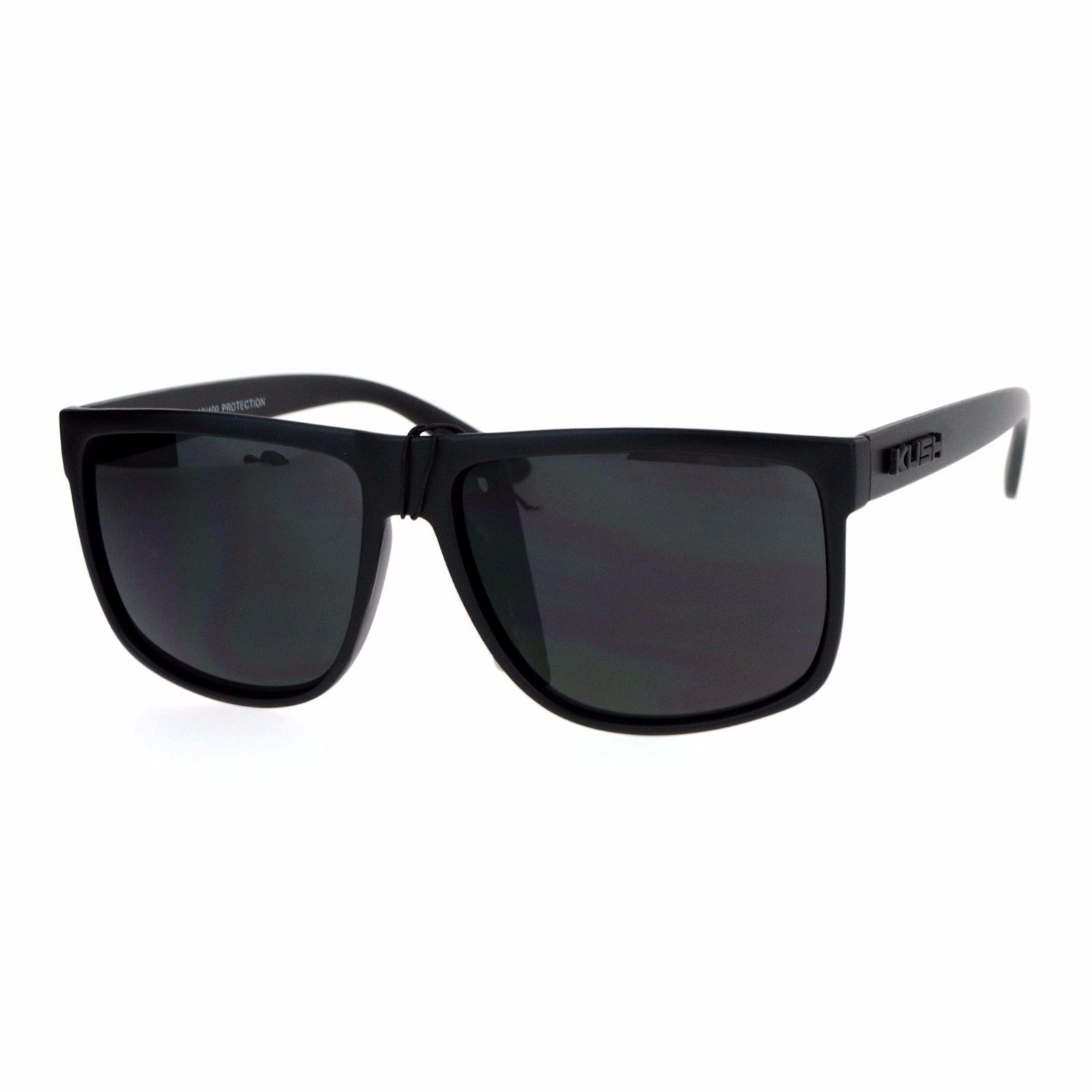 KUSH Sunglasses Classic Black Square Frame Unisex Fashion Shades UV 400
