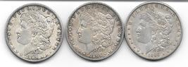 Nice group  of silver Morgan dollars from 1889,1890,1896 - $90.00
