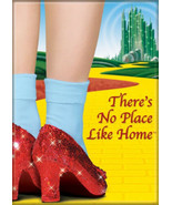 The Wizard of Oz Ruby Slippers No Place Like Home Photo Refrigerator Mag... - $3.99