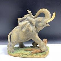 Lefton Elephant porcelain figurine kw5059 japan sculpture statue trunk t... - $74.25