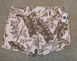 New Girls Gap Shorts Pink Leaves Camo Shortie 10 Plus - $14.95