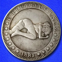 "Sexy Girl 15 ""Hobo Nickel"" on Morgan Dollar Coin ** - $3.79"