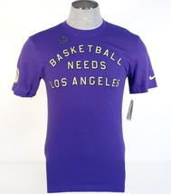 Nike Basketball Needs Los Angeles Purple Short Sleeve Tee T Shirt Mens NWT - $29.99