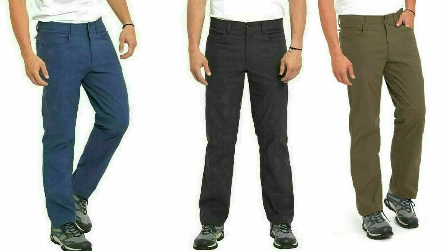 Primary image for Eddie Bauer Men's Trek Pant Water Repellent Secure Pockets 2-Way Stretch NEW