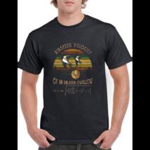 Airspeed Velocity Of An Unladen Swallow Monty Python Vintage Black T-Shirt - $27.11+
