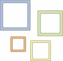 Provo Craft Cuttlebug 2 Inch by 2 Inch Die Set-Rounded Square Frames