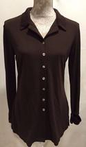 J. Jill Women Career Casual Long Sleeve Button Down Brown Top Shirt  Sz ... - $28.79