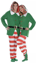 Zipster Elf Jumpsuit Costume Christmas Holiday Parties Small/Med Unisex New 1pc - $34.99