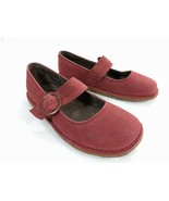 Keen Womens Size 7 Red Nubuck Leather Mary Jane Strap Clogs with Crepe S... - $35.49