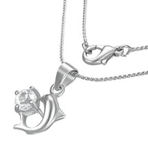 Dolphin Fashion Necklace with Cubic Zirconia - $9.99