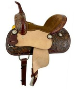 "Western Horse Tooled Leather Youth Barrel Racing Saddle 12"" Seat FQHB 7""... - $327.00"