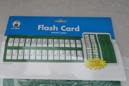 "Carson Dellosa flash card pocket chart hangs 2 ways words math 48x19"" gr... - $12.99"