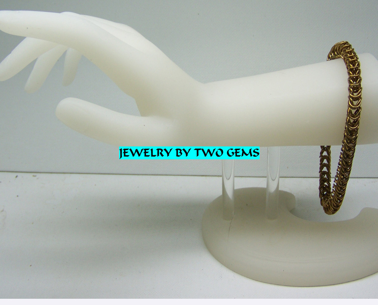Primary image for Jewelry By Two Gems (B55) Brass Box Bracelet