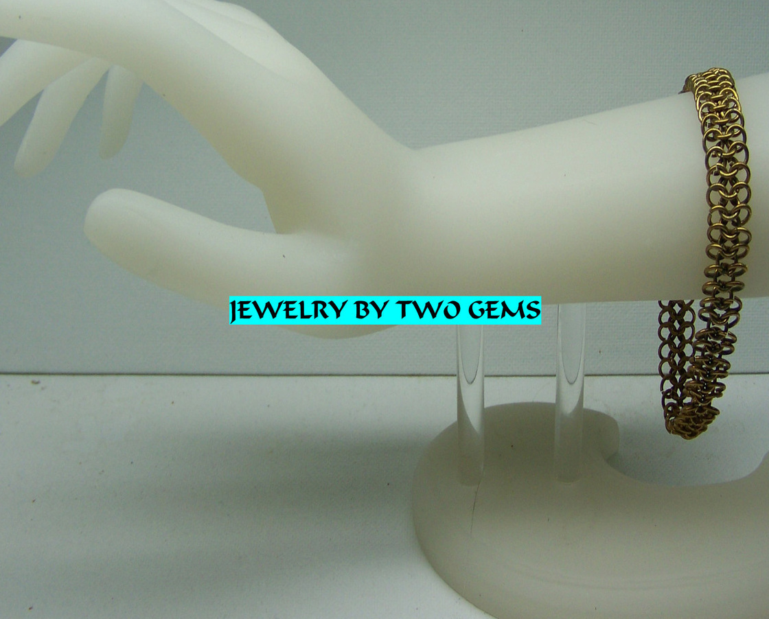 Primary image for Jewelry By Two Gems (B58a) Brass Chainmaille European Bracelet