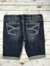 SILVER JEANS SHORTS Low Rise Twisted Thick Stitching Denim Cuffed Jean S... - $34.97