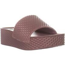 Steve Madden Sharpie Platform Slide Sandals, Mauve, 6 US - $35.51