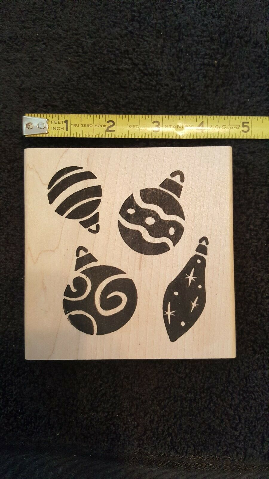 Primary image for Christmas Ornaments Rubber Stamp, Brand New