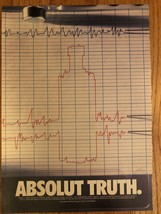 Absolut Truth Lie Detector Original Ad - $3.99