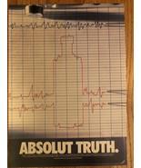 Absolut Truth Lie Detector Original Ad - $3.99