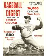 1964 baseball digest dodger sandy koufax - $8.99