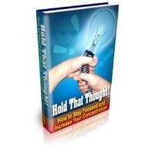 Hold That Thought/focus/concentration/resell/audio cd Hold That Thought:... - $3.99