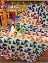 Playful Pinwheels Afghan Crochet Pattern Annies Attic Crochet & Quilt Club - $8.50
