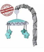 Baby Crib Bedding Set Toddler Newborn Toy Elephant Turquoise Grey 10 Pie... - $167.36