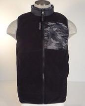 Reebok Sport Black & Gray Reversible Insulated Sleeveless Vest Mens NWT - $71.24