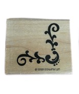 Rubber Wood Stamp Stamping Crafting Stampin Up Scroll Decorative Corner - $9.89