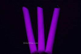 3 Pack PURPLE Blacklight Reactive Drip Candles image 1