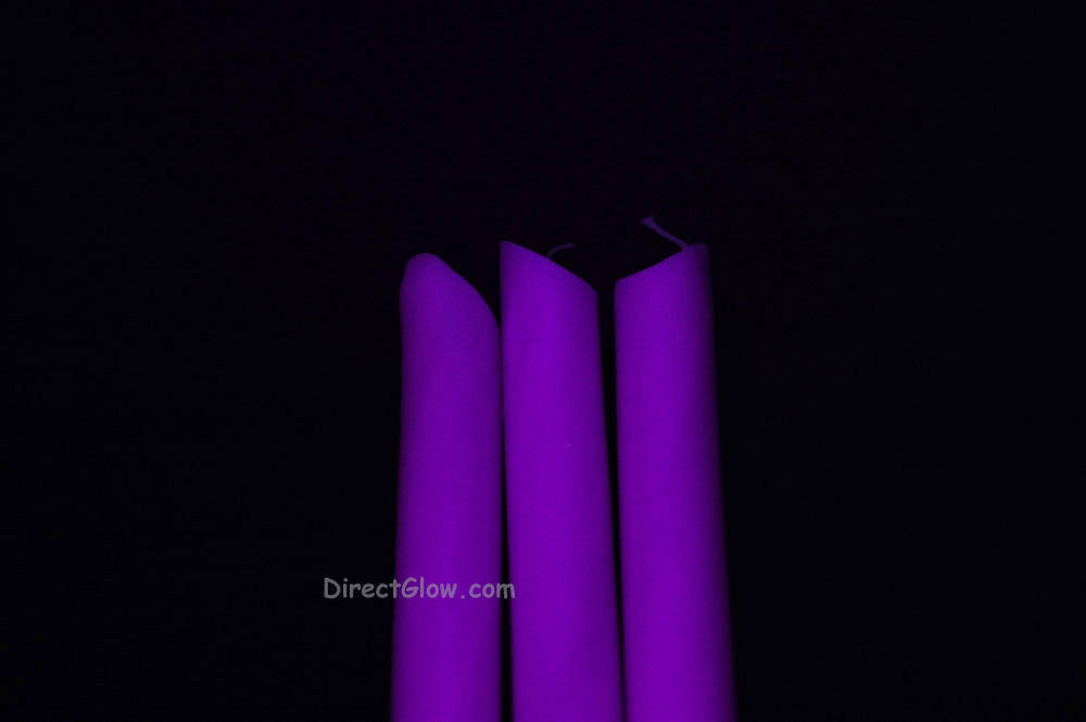 3 Pack PURPLE Blacklight Reactive Drip Candles image 2