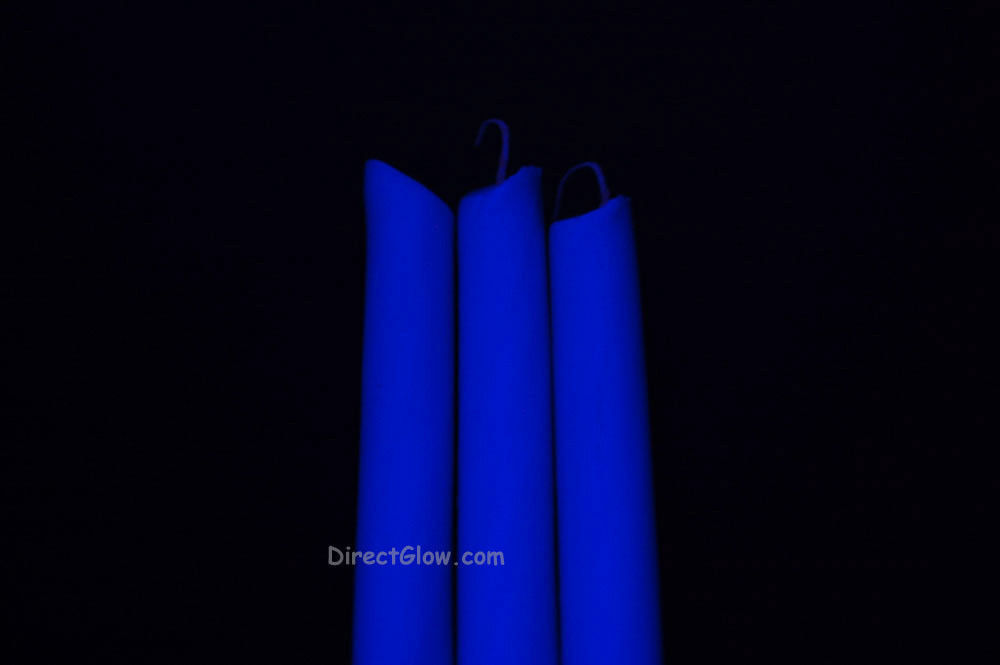 3 Pack BLUE Blacklight Reactive Drip Candles image 2