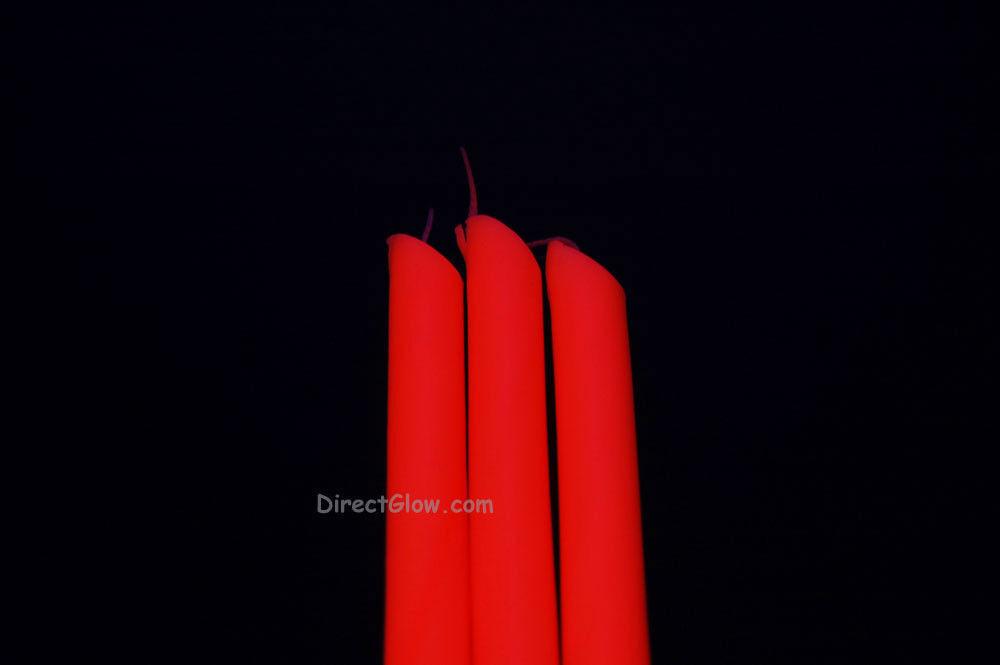 3 Pack ORANGE Blacklight Reactive Drip Candles image 2