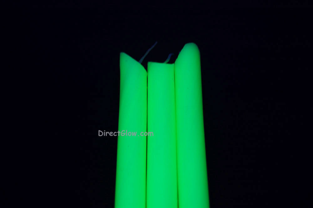 3 Pack YELLOW Blacklight Reactive Drip Candles image 2