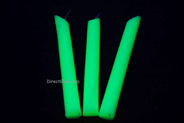 3 Pack YELLOW Blacklight Reactive Drip Candles image 1