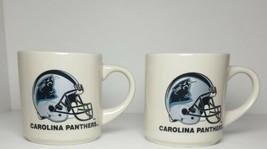 Lot Of 2 Carolina Panthers Nfl Football Coffee Mugs Cups - $7.66