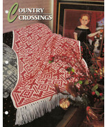 Country Crossings Afghan Crochet Pattern Annies Attic Crochet & Quilt Club - $8.50