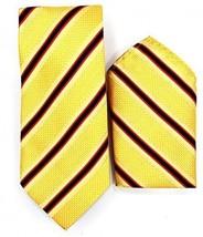 Oliver George Striped Tie Set (Gold-Navy-Red) #2699-G - $14.89