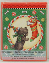 Mary Engelbreit SCOTTIE DOG Christmas Note Cards New in Package 2012 - $7.99