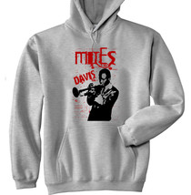MILES DAVIS JAZZ - NEW COTTON GREY HOODIE - $39.75