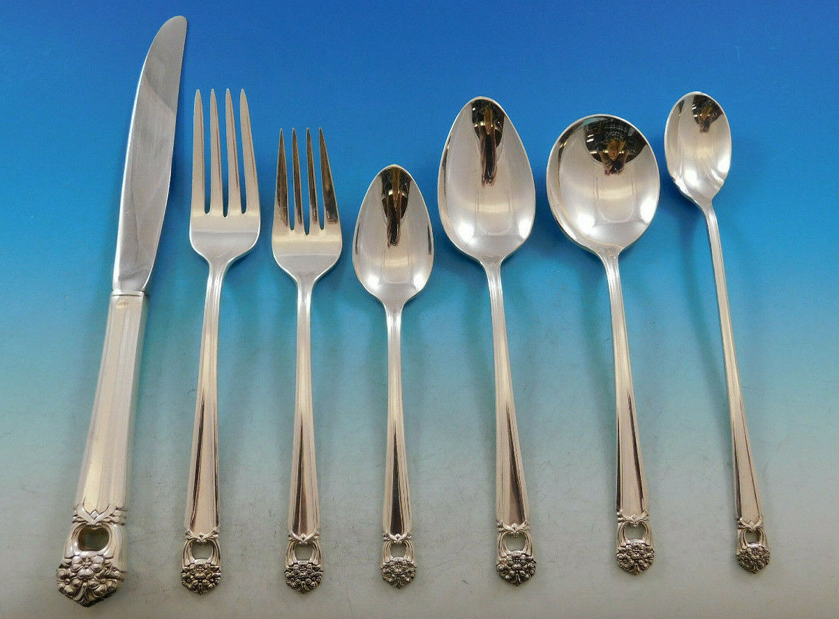 Primary image for Eternally Yours by 1847 Rogers Silverplate Flatware Set for 12 Service 88 pcs