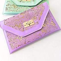 Beautiful Cut Out Envelope Shoulder Clutch Bag - $26.28 CAD