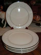 "✔ 5pc Set NORITAKE IVORY CHINA TRUDY 7087 Salad Plates 8.25"" Platinum Ba... - $54.44"