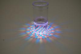 Set of 2 LiteRays LED Light Up Projection Shot Glasses- Spiral image 2