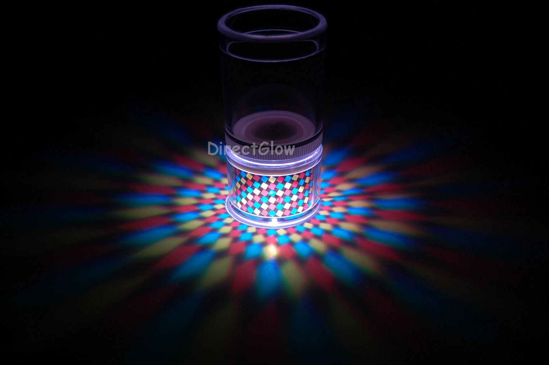Set of 2 LiteRays LED Light Up Projection Shot Glasses- Spiral