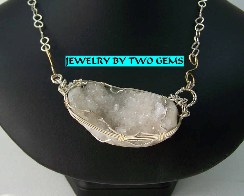 Jewelry by Two Gems (Wn82) Sterling Silver Wire Wrap Necklac