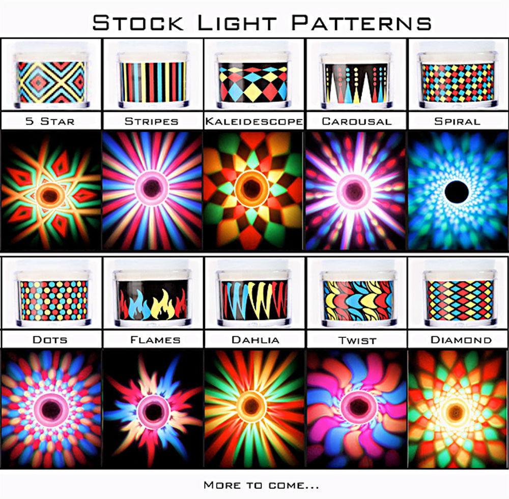 Set of 2 LiteRays LED Light Up Projection Shot Glasses- Spiral image 5